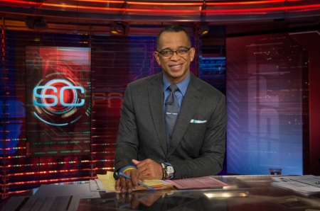 Bristol, CT - February 20, 2014 - Studio F: Stuart Scott on the set of SportsCenter (Photo by Rich Arden / ESPN Images)